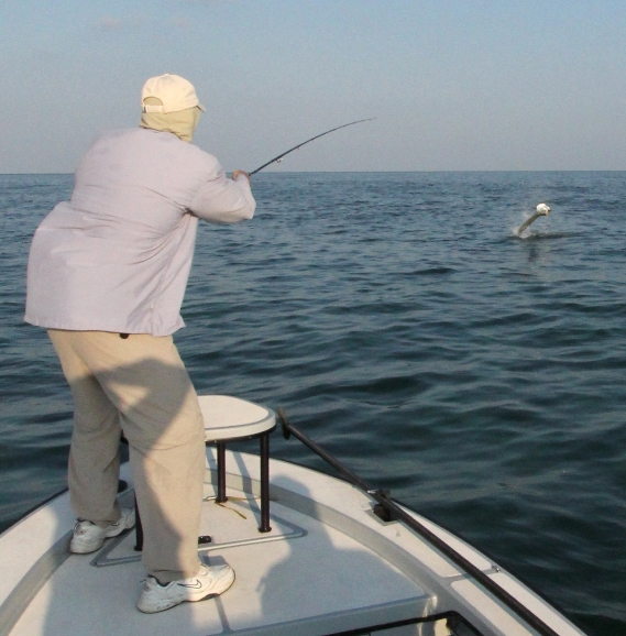 Miami Fly Fishing Guide Capt. Dave Hunt tarpon on fly