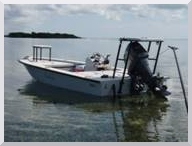 Miami Fly Fishing Guide: Capt. Dave Hunt's flats skiff