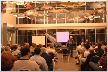Miami Fly Fishing Guide Capt. Dave Hunt speaking at IGFA
